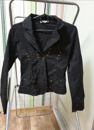 Пиджак жакет черный