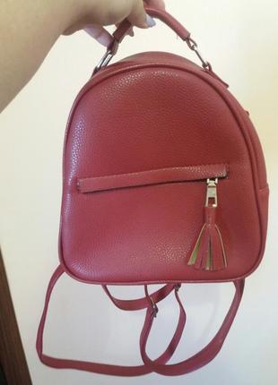 Рюкзак женский красный новый!