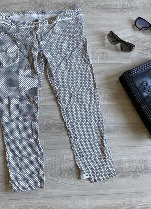Vangeliza белые брюки в черный кружок оригинал италия