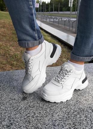 Кроссовки кожаные утепленные байкой ,женские ™torsion. качественная обувь ™торсион.
