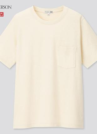 Uniqlo япония футболка лимитированная коллекция jw anderson котон / лен