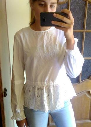 Біла блузка reserved yfl белая блуза