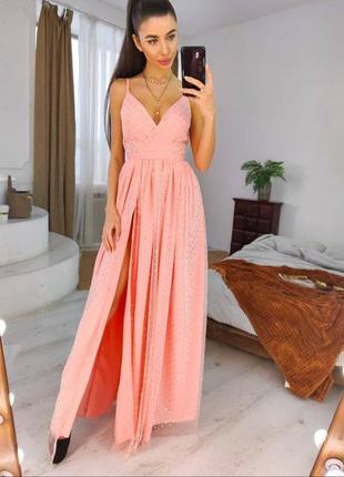 1809.     розовое вечернее платье с блёстками