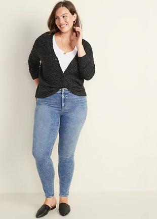 Новые теплые джинсы old navy с завышенной талией батал