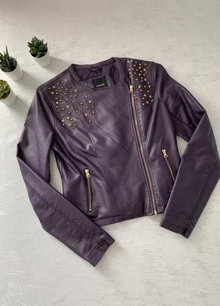 Куртка в идеальном состоянии демисезон из качественной экокожи
