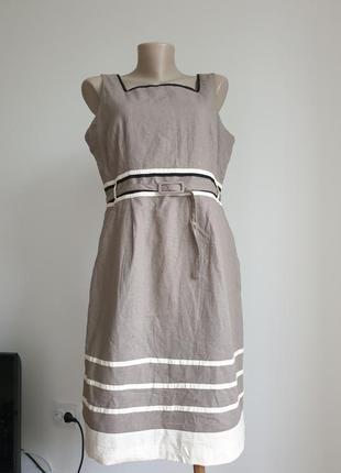 Платье лен south англия