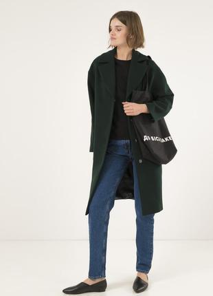 Женское пальто season глория бутылочного цвета
