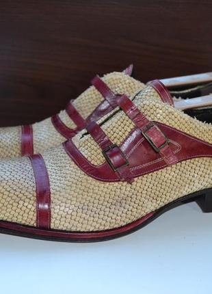 Jo ghost 41р туфли броги , ботинки кожаные. италия.