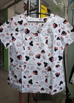 Медицинская блуза пиджак принт
