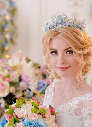 Свадебная корона ручной работы, корона на выпускной