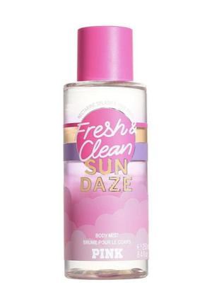 Мист спрей victoria's secret pink fresh and clean sun daze