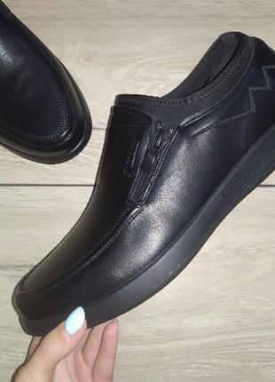 Мужские туфли классика черные полуботинки чоловічі туфлі