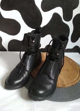 Осенние ботинки с кожи