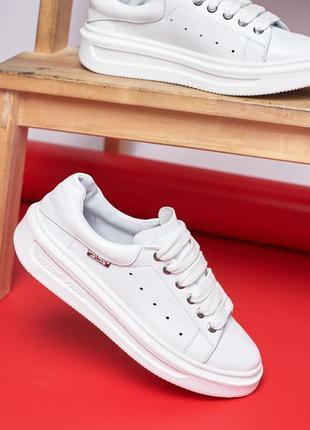 Низкие кожаные кеды р36-41 мокасины кроссовки слипоны балетки шкіряні кеди мокасини белые