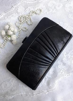 Клатч ссср сумочка натуральная кожа винтаж 50-е годы с бакелитовой камеей защелкой