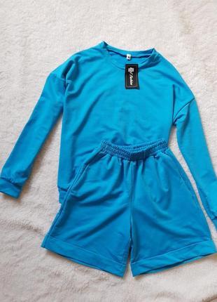Спортивный костюм ( свитшот и шорты )