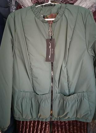 Ветровка,бомпер,цвет олива,размер 42,отличное качество.