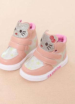 Ботиночки/кроссовки китти в розовом цвете