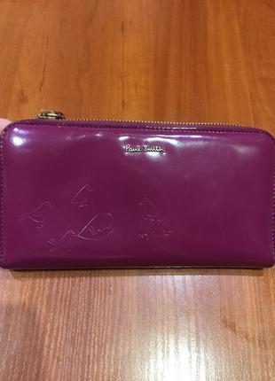 Кожаный кошелёк paul smith