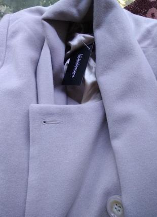 Пальто  полупальто лаванда капучино турецкий  кашемир с галстуком