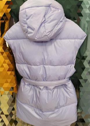 Шикарная жилетка с поясом и капюшоном, люкс качество 💖.
