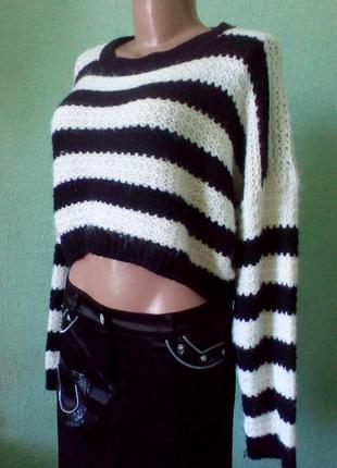 Джемпе, пуловер полосатый пушистик atmosohere размер s-l, h&m, only