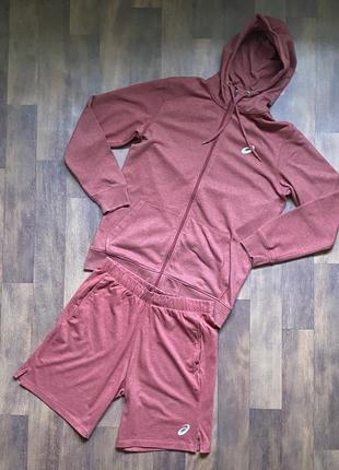 Мужской спортивный костюм шорты и кофта asics оригинал размер l