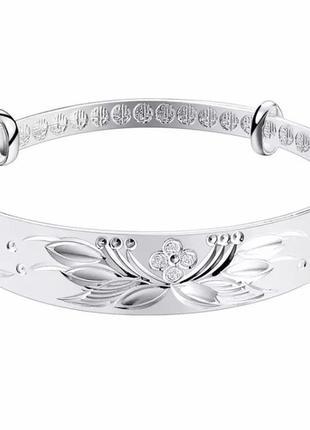 Красивый браслет с узорами стерлинговое серебро 925