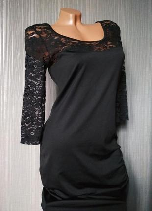 Чёрное платье миди incity