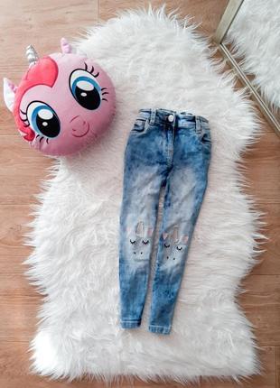 Крутые джинсы скинни варенки с единорожками
