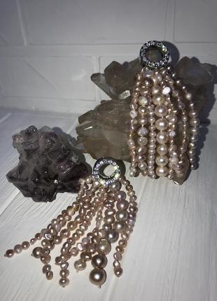 Заготовки на серьги или кулоны из натурального жемчуга