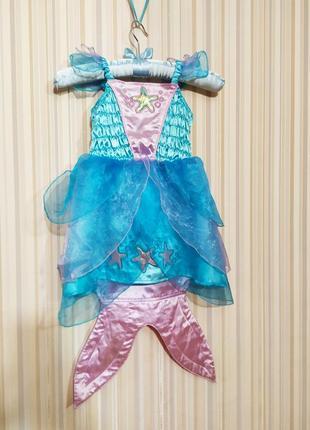 Карнавальный костюм платье русалочки морской обитатель рыбка