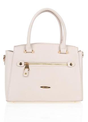 Небольшая женская сумка david jones 5527-2 beige