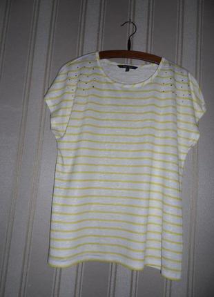 Женская футболка полосатая размер 46 // 3xl