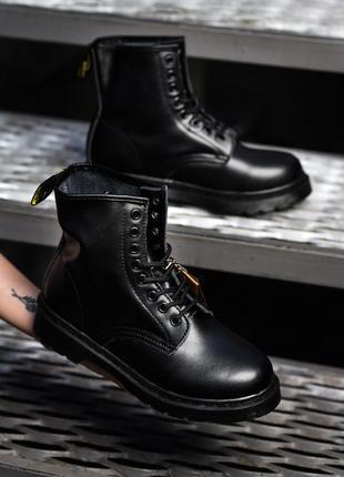Невероятно крутые ботинки мартинсы черные dr. martens tripple black