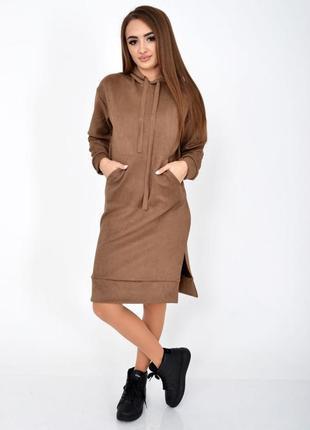 Красиве зручне стильне  плаття , худи , туніка з капюшоном