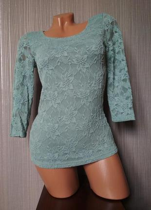 Трикотажная ажурная блуза amisu