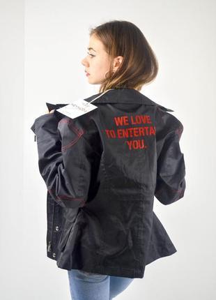Нейлоновая байкерская куртка с принтом на спине, ветровка из нейлона, дождевик