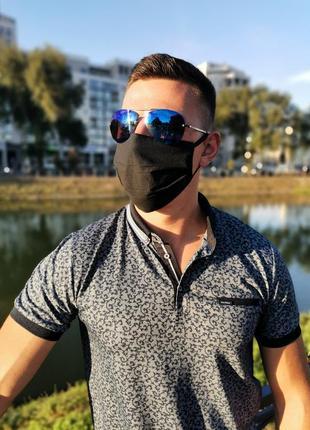 Повязка черная,маска защитная хлопковая