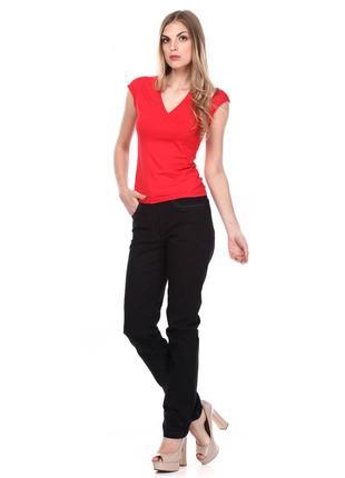 Черные коттоновые натуральные брюки джинсы деловые штаны штани р.48 укр.