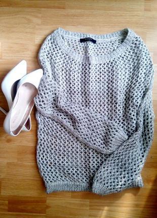 Кофта, свитер серый