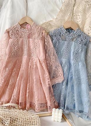 Нежное воздушное кружевное платье