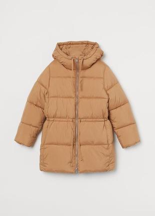 Утепленная куртка с капюшоном h&m
