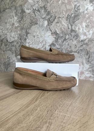 Janet d 41 р кожа туфли туфлі мокасини мокасины .