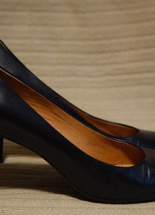 Благородные черные кожаные лодочки на высоком каблуке geox respira италия 39 р.