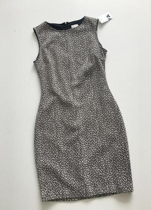 Элегантное облегающее платье футляр с принтом reiss
