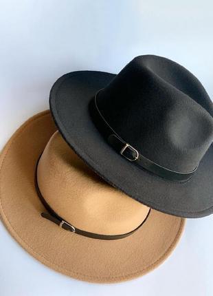 Шляпа федора фетровая шляпа