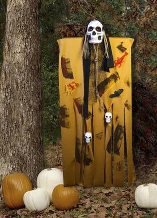 Декор на хэллоуин для фото зоны фото сессии призрачный череп