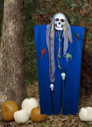 Хэллоуин призрачный череп декор для фото зоны фото сессии