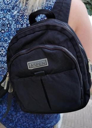 Чёрный рюкзак, aspen, 3 больших отделения, брендированная фурнитура